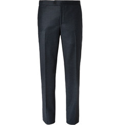 Thom Sweeney Dark-Blue Slim-Fit Wool and Cashmere-Blend Suit Trousers