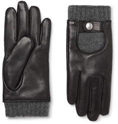 Mulberry Cashmere-Lined Leather Biker Gloves