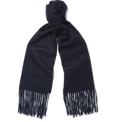 Mulberry Brushed-Cashmere Scarf