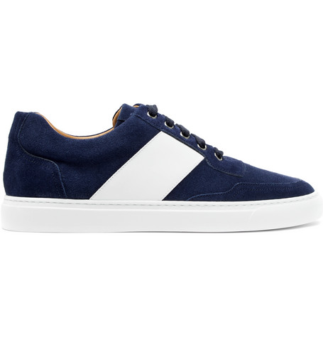 Wave Two-tone Leather Sneakers - BlackHarrys of London rQup9f