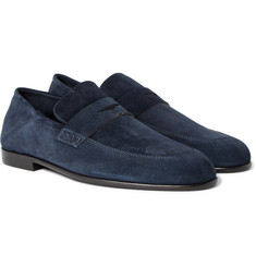 Harrys of London Edward Collapsible-Heel Suede Loafers