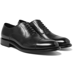 O'Keeffe - Algy Cap-Toe Polished-Leather Oxford Shoes