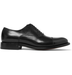 O'Keeffe Algy Cap-Toe Polished-Leather Oxford Shoes
