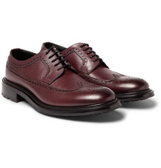 O'Keeffe - Milo Pebble-Grain Leather Longwing Brogues