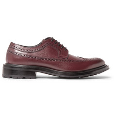 O'Keeffe Milo Pebble-Grain Leather Longwing Brogues