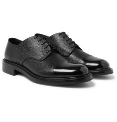 O'Keeffe - Felix Cap-Toe Pebble-Grain Leather Derby Shoes