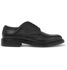O'Keeffe Felix Cap-Toe Pebble-Grain Leather Derby Shoes