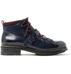 O'Keeffe Alvis Shearling-Lined Leather Boots