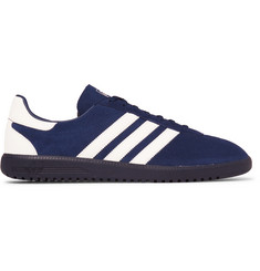 adidas Originals Intack Spezial Faux Leather-Trimmed Suede Sneakers