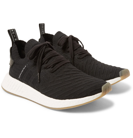 66606a4e6 Adidas Originals Nmd R2 Primeknit Sneakers In Black By9696 - Black ...
