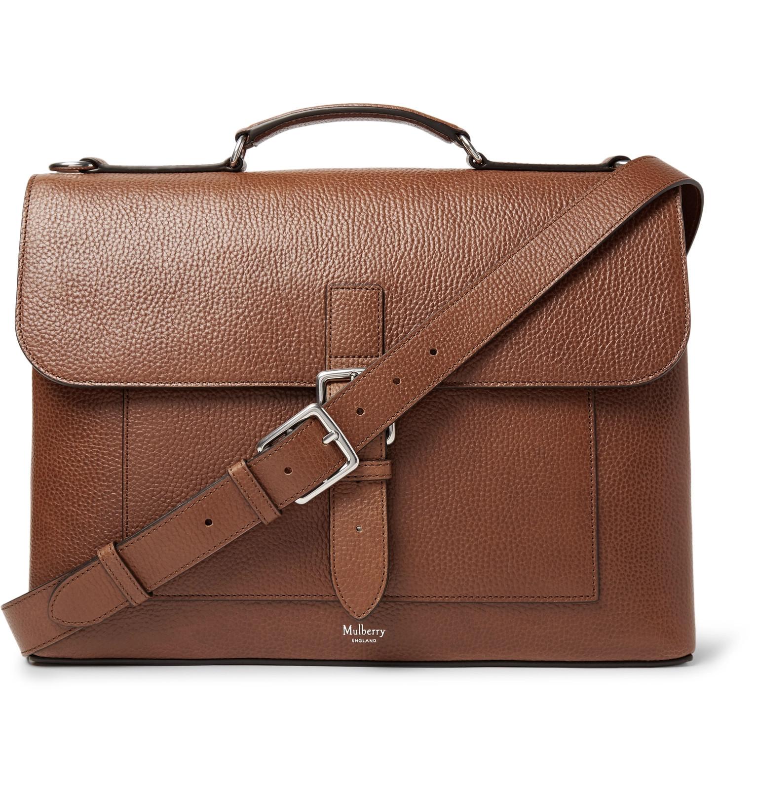 ea8e6732de Mulberry Chiltern Pebble-Grain Leather Briefcase