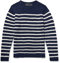 The Elder Statesman Picasso Striped Cashmere Sweater