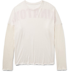 The Elder Statesman Chinatown Printed Cashmere and Silk-Blend T-Shirt