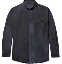 The Elder Statesman Oversized Hammered-Silk Shirt