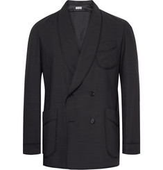 Camoshita - Slim-Fit Double-Breasted Wool-Blend Blazer
