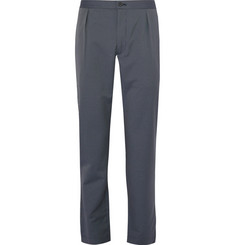 Camoshita - Pleated Pinstriped Wool-Blend Suit Trousers