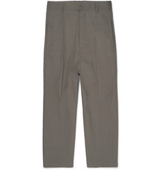 Rick Owens Astaires Cropped Cotton-Blend Trousers