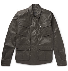 Belstaff Levison Waxed Cotton-Blend Field Jacket