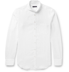 Thom Sweeney Slim-Fit Cutaway-Collar Linen Shirt