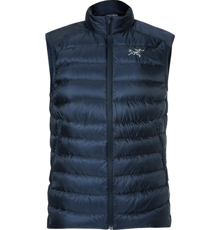 Arc'Teryx Cerium Lt Quilted Shell Down Gilet In Navy