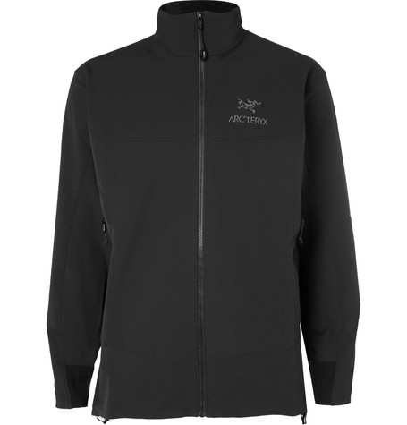Arc'Teryx Gamma Lt Stretch-Shell Jacket In Black