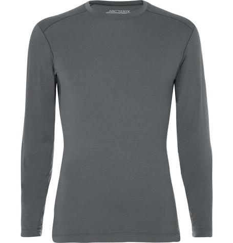 Arc'teryx Satoro Ar Wool-blend Base Layer In Gray