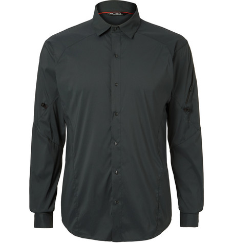 Arc'Teryx Elaho Ls Alatorre Shell Shirt In Gray