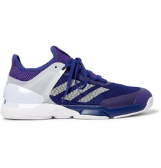 Adidas Sport - Adizero Ubersonic 2 Rubber-Trimmed Mesh Tennis Sneakers