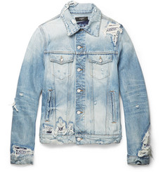 AMIRI Concert Slim-Fit Distressed Denim Jacket