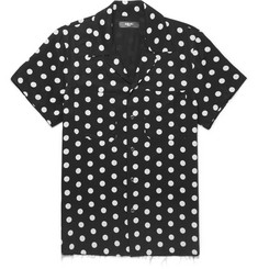AMIRI Camp-Collar Polka-Dot Twill Shirt