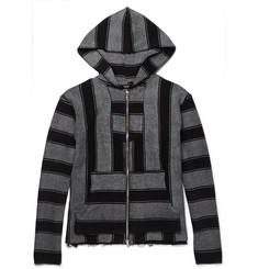AMIRI Baja Striped Cotton-Terry Zip-Up Hoodie