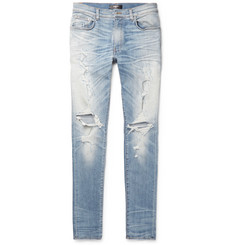 AMIRI - Thrasher Skinny-Fit Distressed Stretch-Denim Jeans