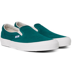Vans - OG LX Suede and Canvas Slip-On Sneakers