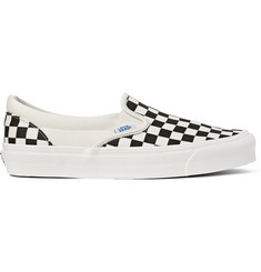 Vans OG Classic LX Checked Canvas Slip-On Sneakers