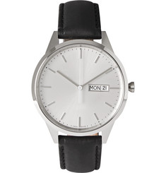Uniform Wares C40 Stainless Steel and Leather Watch