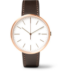 Uniform Wares - M40 Rose Gold PVD-Plated Stainless Steel and Cordovan Leather Watch