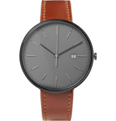Uniform Wares - M40 PVD-Coated Stainless Steel and Leather Watch