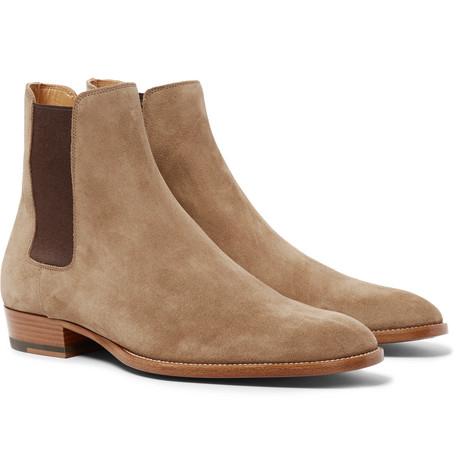 SAINT LAURENT | SAINT LAURENT - Suede Chelsea Boots - Tan | Goxip