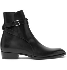 Saint Laurent Leather Jodhpur Boots