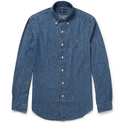 Polo Ralph Lauren - Slim-Fit Button-Down Collar Washed-Denim Shirt