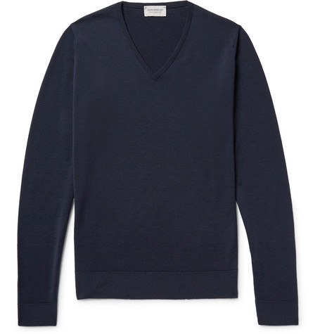 john smedley male blenheim merino wool sweater