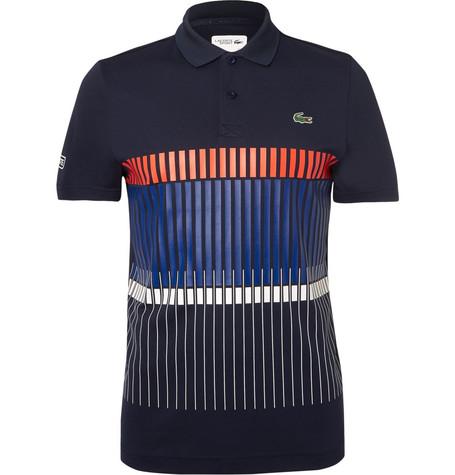 Lacoste Tennis Novak Djokovic Printed Pique Tennis Polo Shirt In Navy Modesens
