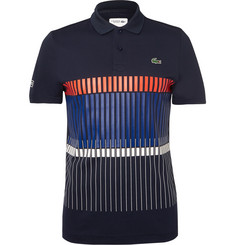 Lacoste Tennis Novak Djokovic Printed Piqué Tennis Polo Shirt