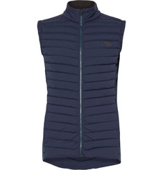 Kjus Macun Stretch Jersey-Panelled DWR-Coated Quilted Shell Gilet