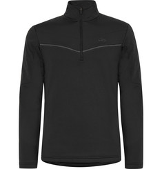 Kjus Speed Reader Shell-Panelled Fleece-Back Stretch-Jersey Half-Zip Top