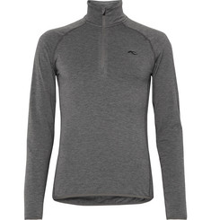 Kjus Trace Fleece-Back Stretch-Jersey Half-Zip Top