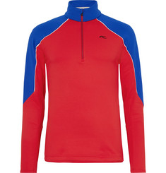 Kjus Formula Fleece-Back Stretch-Jersey Half-Zip Top