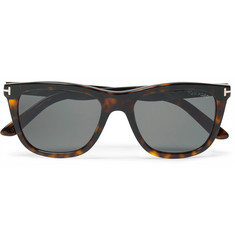 TOM FORD Andrew Square-Frame Tortoiseshell Acetate Sunglasses