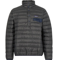 Patagonia Snap-T Quilted DWR-Coated Ripstop Shell Down Pullover