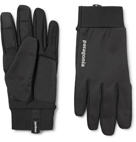 Patagonia Wind Shield Gloves In Black